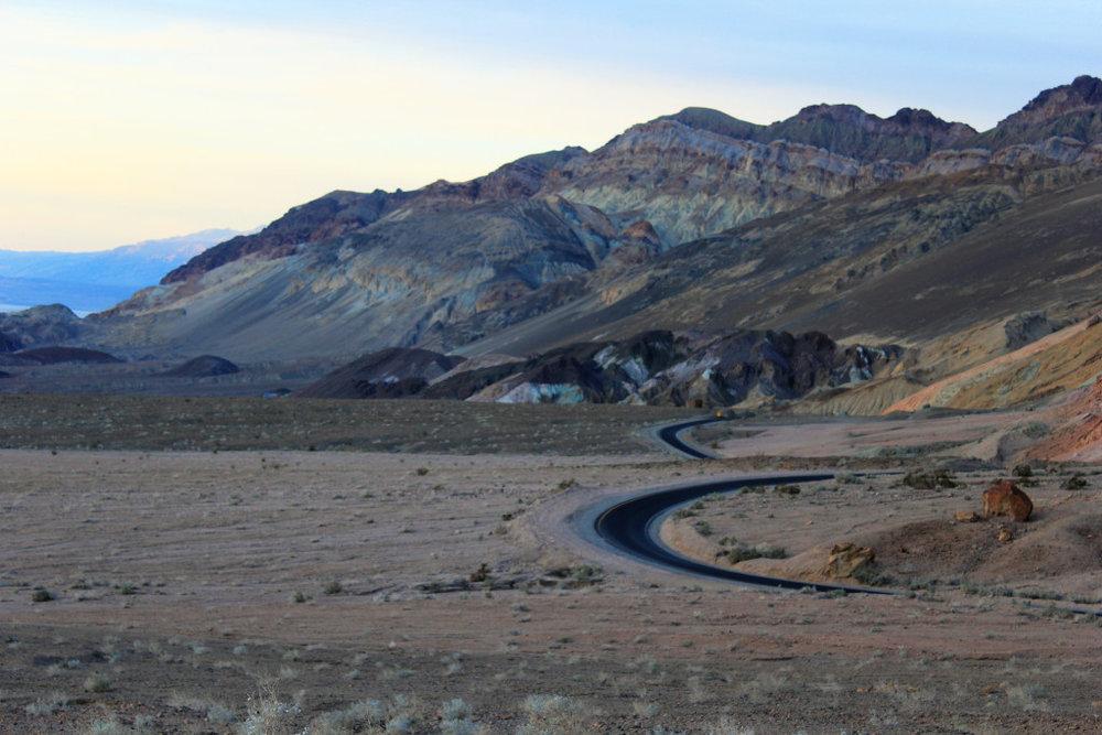 I love how the black ribbon roads follow contours of the landscape.