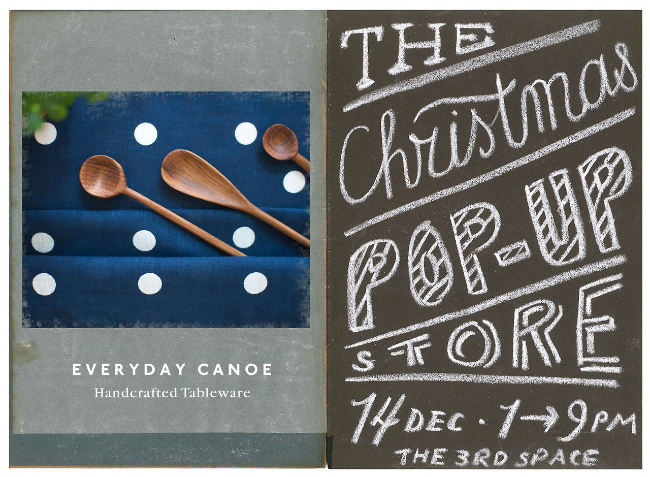 We'll be down with our wares at The 3rd Space for their annual Christmas Pop-up Flea!   Come say hi!