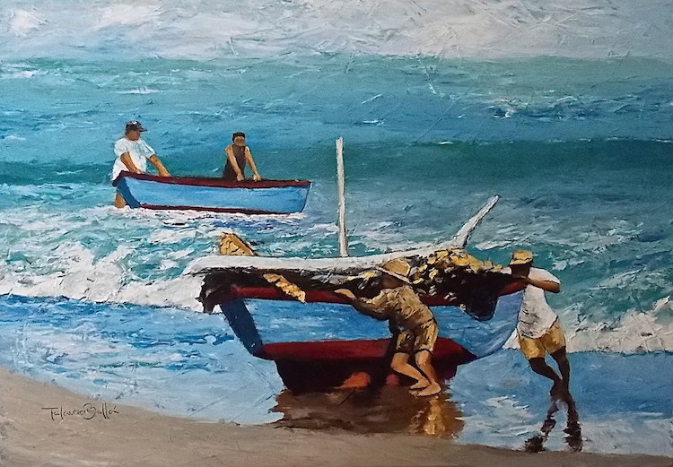 """Saliendo del Mar"""