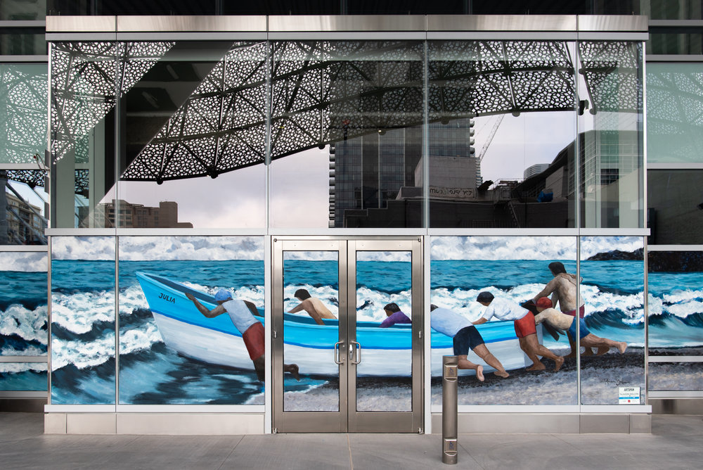 """Desafiando la Marea"" 40 linear ft (Salesforce Transit Center, San Francisco) Photo credits  Victoria Montero"