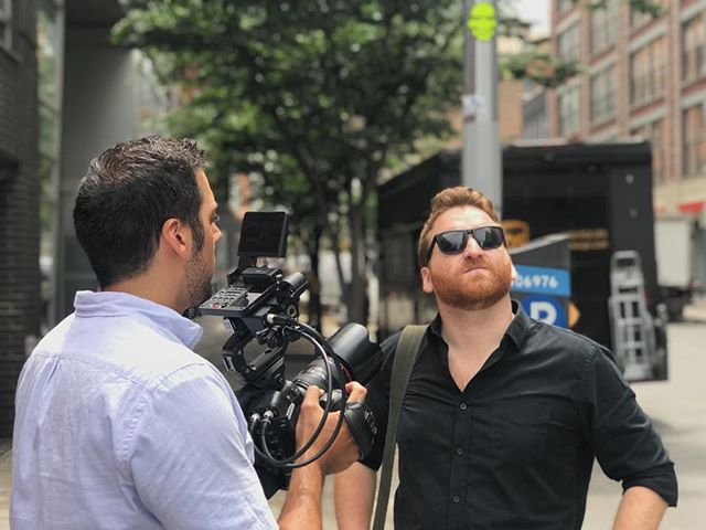 On location with Kevin, the Director of Real Estate for @wework