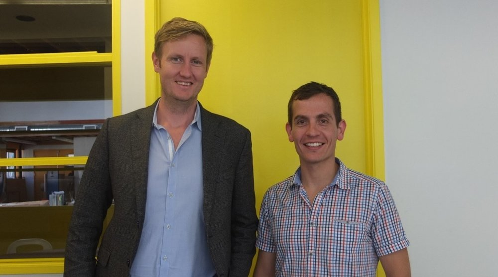 Ben John (left) and Ben Varela at Workpoint's Offices in Los Angeles