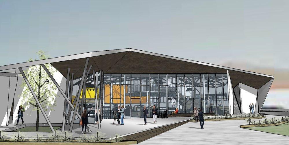 Project Information Location/ Indio, California Architect / Burgeoning Architects Size / 12,000 SF Status/ In progress Renderings/ Burgeoning Architects