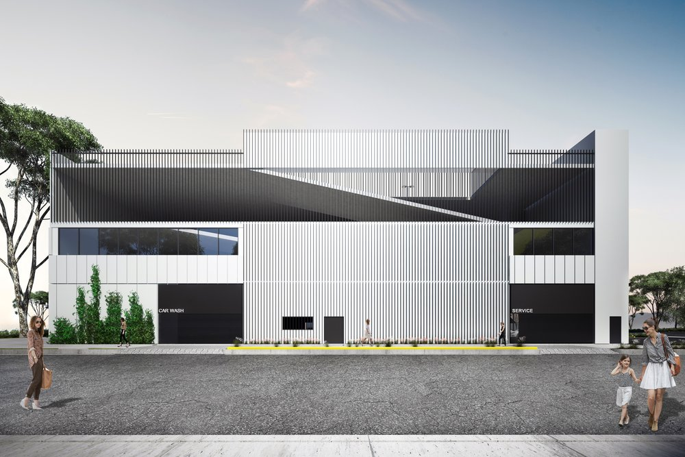 Project Information    Location / Glendale, California  Architect  / Experimental Branch of Architecture & Bill James Associates  Size  / 80,000 SF  Status / In progress   Renderings / Experimental Branch of Architecture