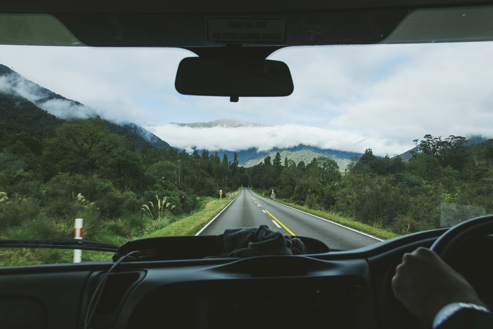 Driving from the Glaciers to Haast