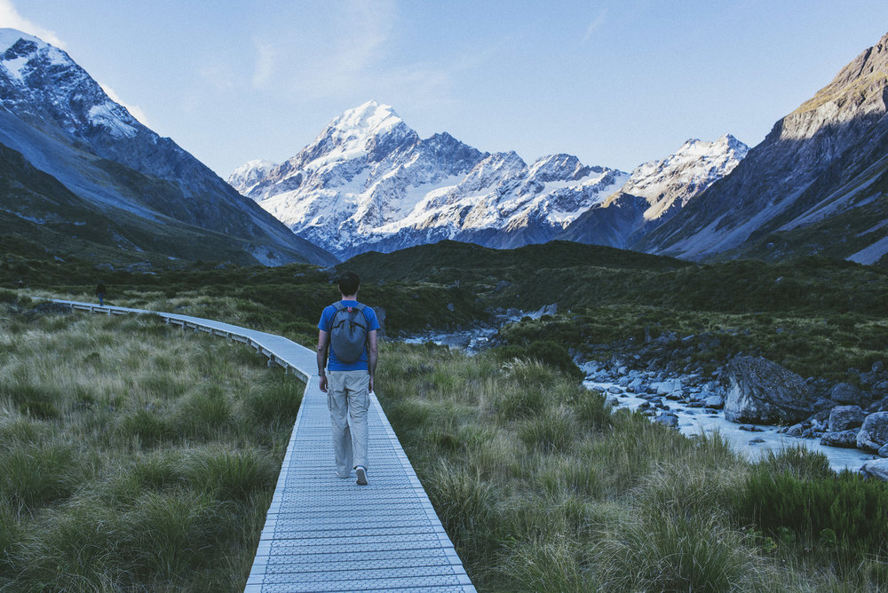 The Hooker Valley track is the most popular hike at Mt Cook - and for obvious reasons