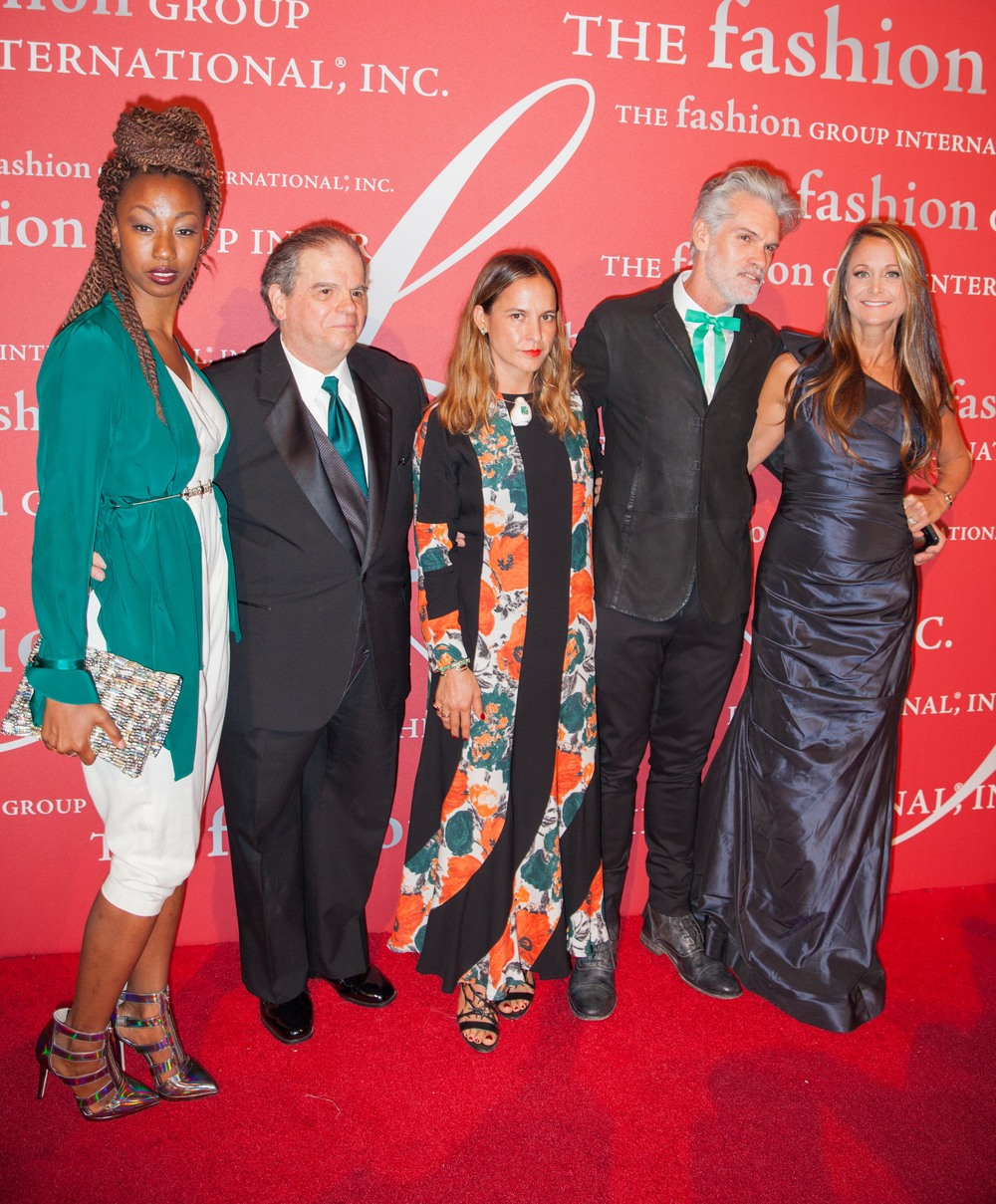 Marci Zaroff at the 2014 Fashion Group International Rising Star Awards with Dominique Drakeford, Harvey Russack, and Kelley Blevins .