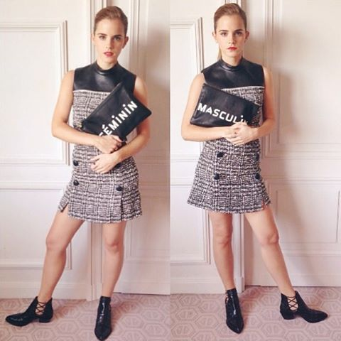 Consciously Clad Emma Watson. Get more on rowandrue.com #madeinusa #clarev #fashion #fairtrade #style #ecofashion #harrypotter #jkrowling #fun #smile