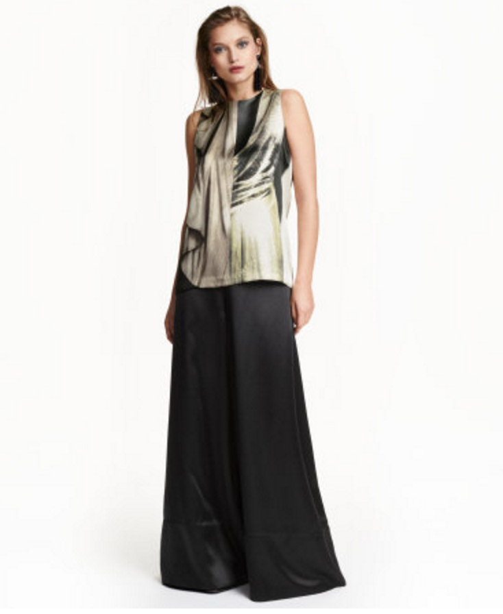 Silk and Lyocell Satin Top