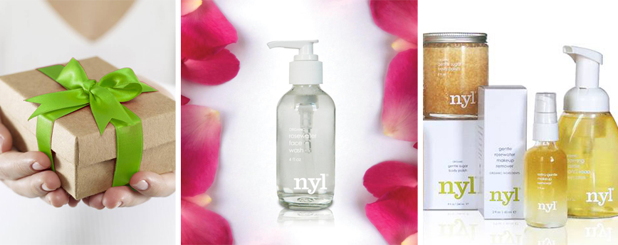 Clink on the image to shop Nyl Organic body lotions and bath salts