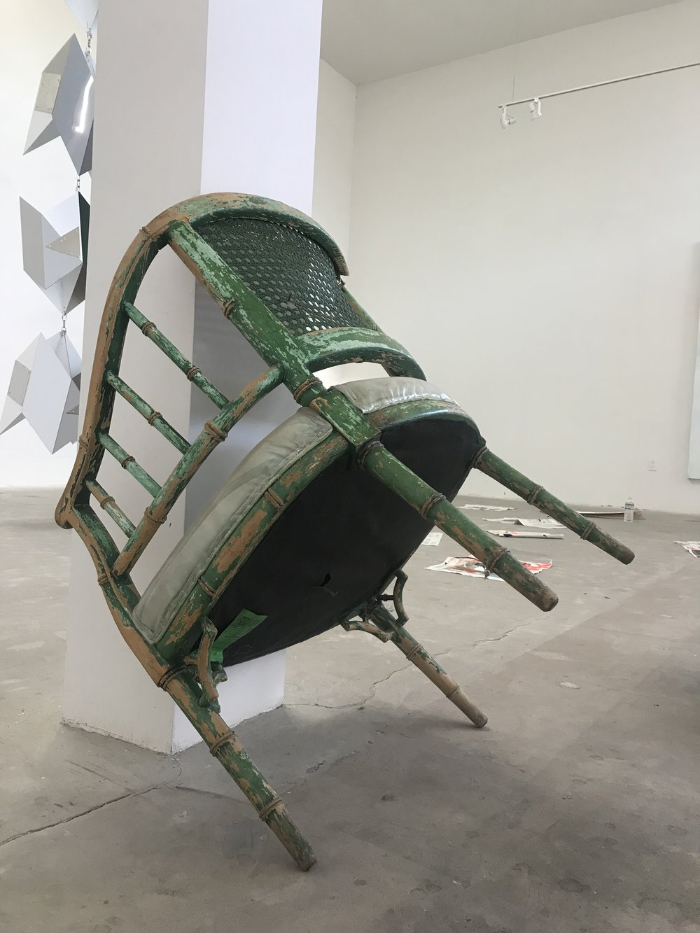 a chair holding comfort