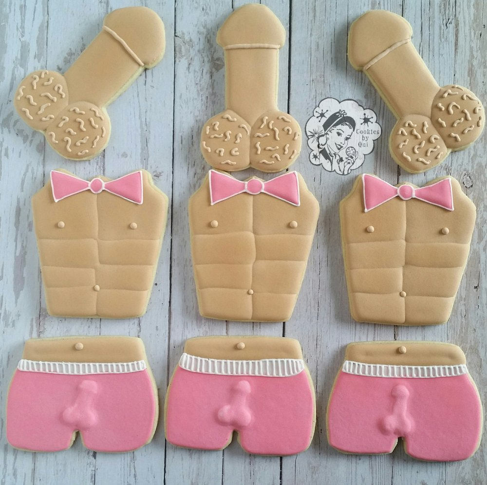 Cheeky Boxer Shorts Sexy Abs and Penis Hens Night Cookies