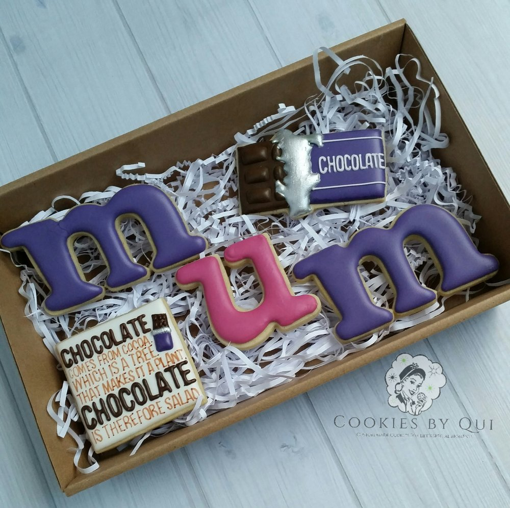 Mother's Day 2017 Custom Cookie Gift Box - Cookies by Qui Geelong