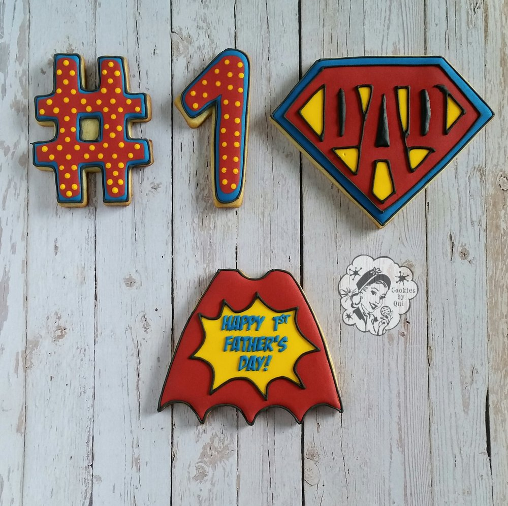 Superhero Father's Day Cookie - Cookies by Qui Geelong