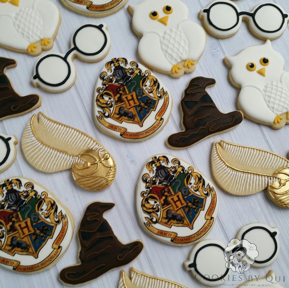 Harry Potter Inspired Birthday Cookies