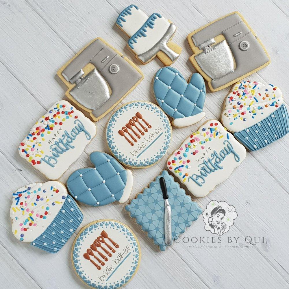 Baking Birthday Cake Inspired Birthday Cookies