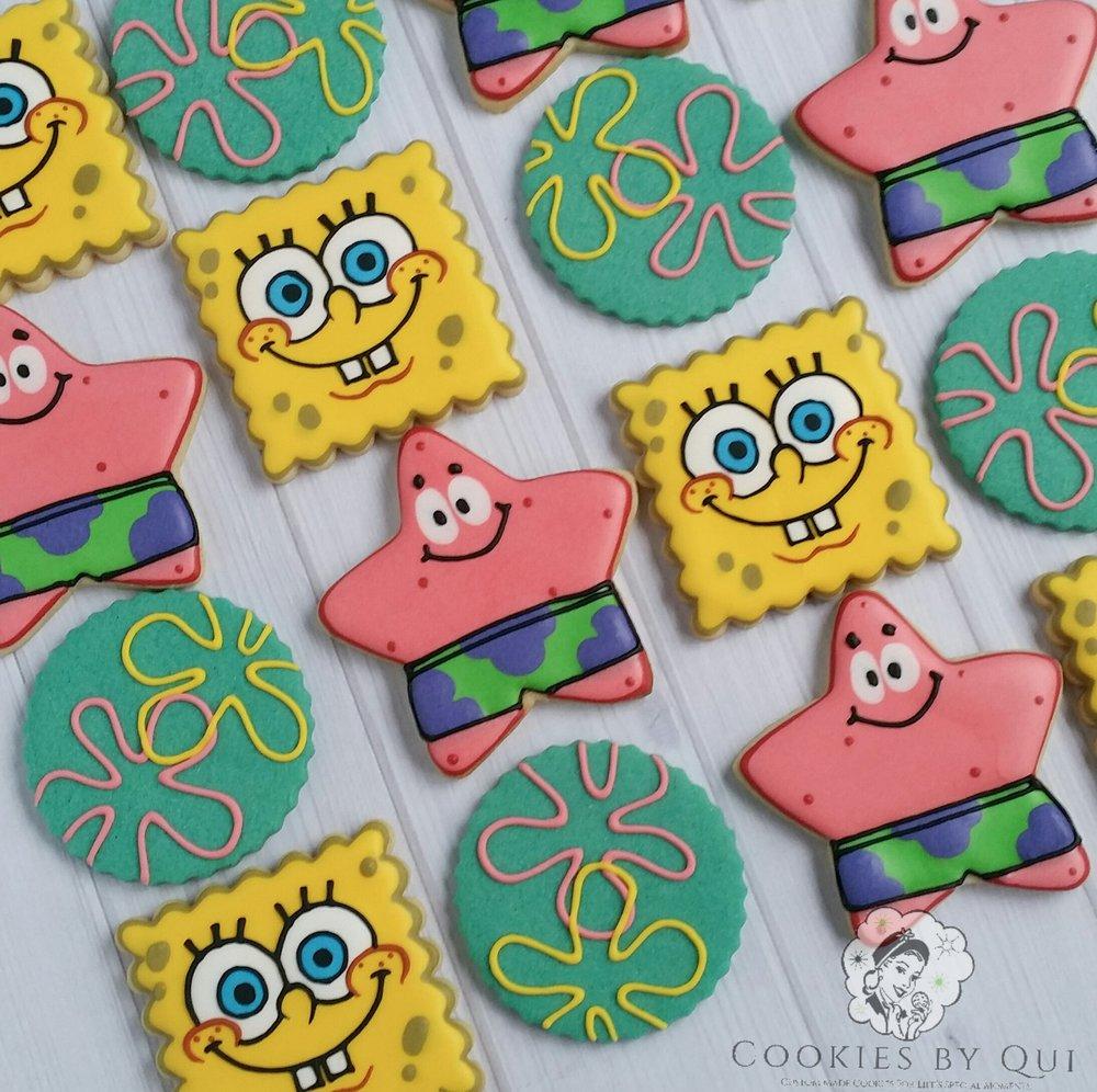 Spongebob and Patrick Bikini Bottom Themed Birthday Cookies