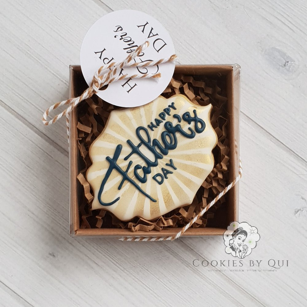 Father's Day Plaque Gift Box Cookie