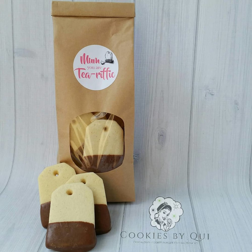 Mum You're Tea-Riffic Tea Bag Cookie Gift Bag
