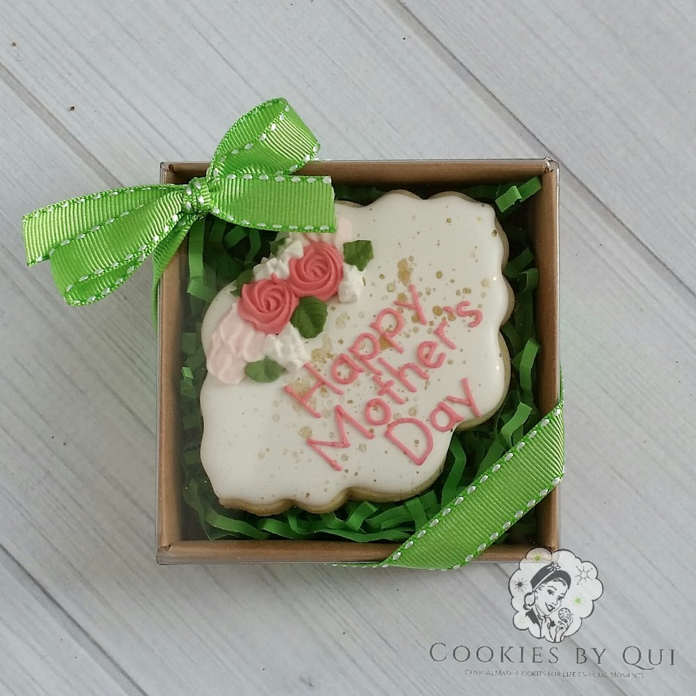 Happy Mother's Day Cookie Plaque Gift Box