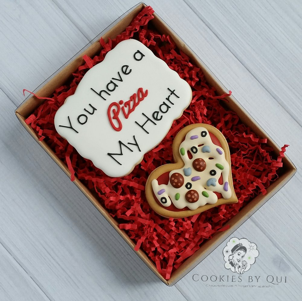 You Have a Pizza My Heart Valentine's Day Gift Box Cookie