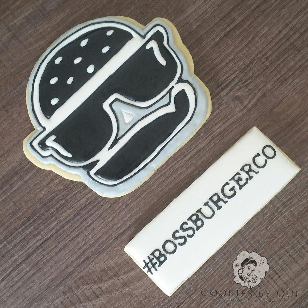 Boss Burger Co Logo Cookie