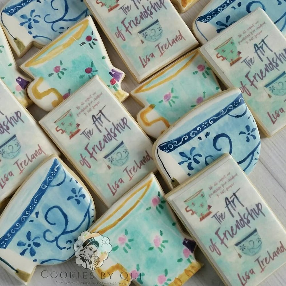 Lisa Ireland The Art of Friendship Book Launch New Book Release Cookies