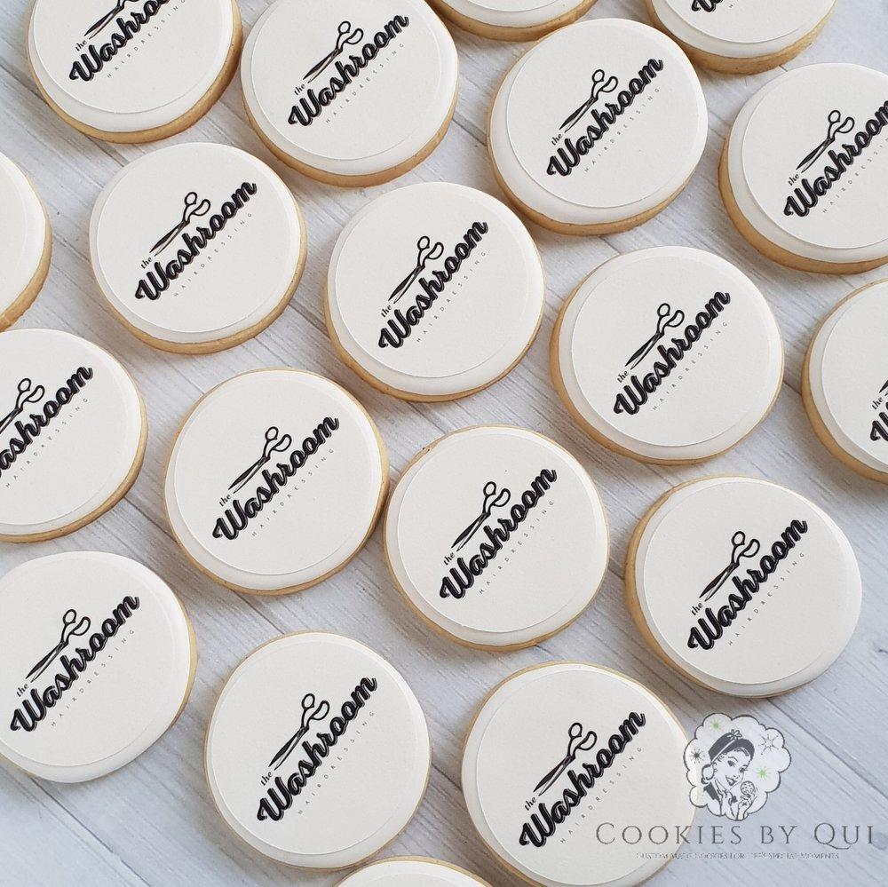 The Washroom Edible Image Logo Cookies