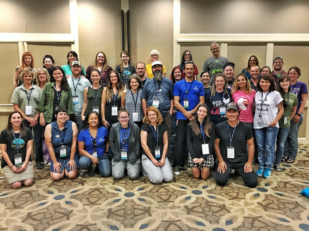 38 sanctuary humans representing 22 farm animal sanctuaries gathered at the Animal Rights National Conference.