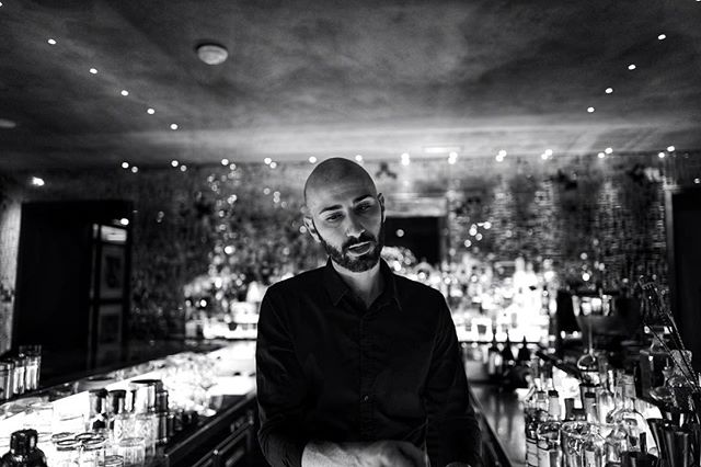 emanuele : his last night ・・・ #leica #monochrome #leicaq #allblackeverything #noir #bw #mixology #leasiatique #roma