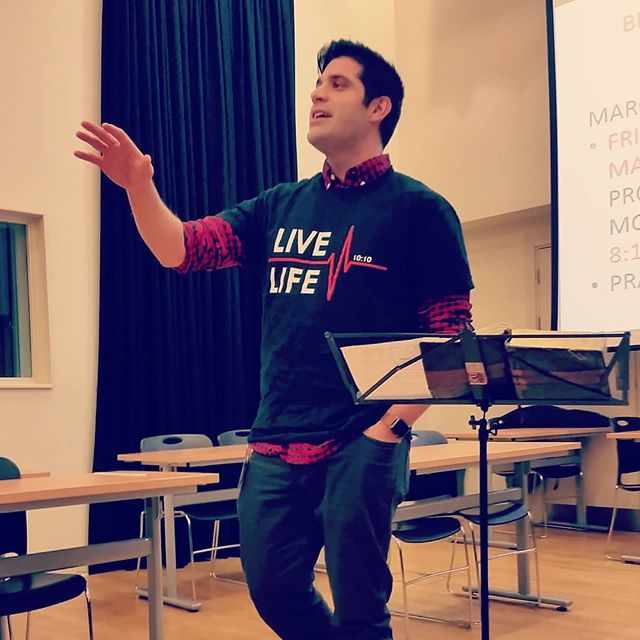 """Thomas Quicksell was on point in the Year 8 assembly. """"Christians believe that in knowing God through Jesus we can live a life without the confines of comparison and jealousy"""" #LiveLife1010"""
