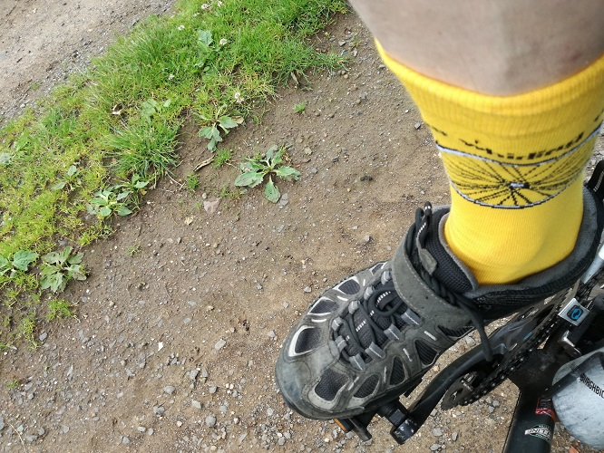 "Holy Cycle Socks get the approval of jasco from Midlothian, ""they helped me up hills round Gifford.  They were very comfortable....as well as looking Dazzling ! - also addition to any hi viz encouraging tractors and the like to give plenty of clearance !"