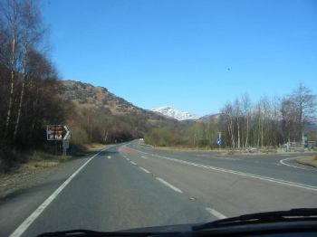 Eventually we were on our way north, passed Loch Lomond.