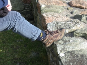 "So woolly ""Journeying Socks"" and stout boots on the feet, we took a walk about the island."