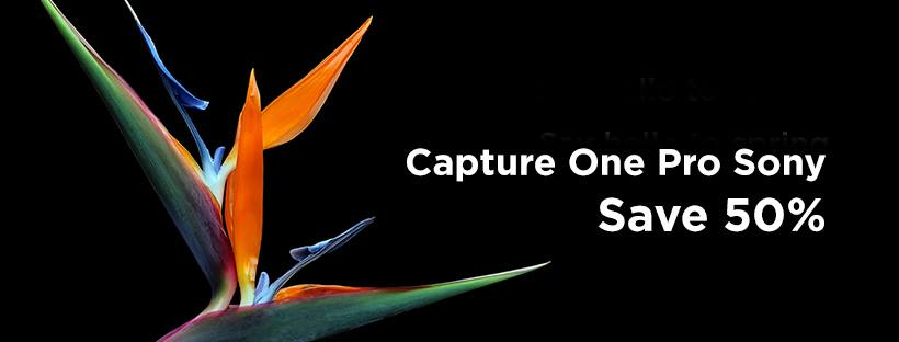 50% OFF Capture One Pro Sony and Fujifilm - EXTENDED until 30/04/2019
