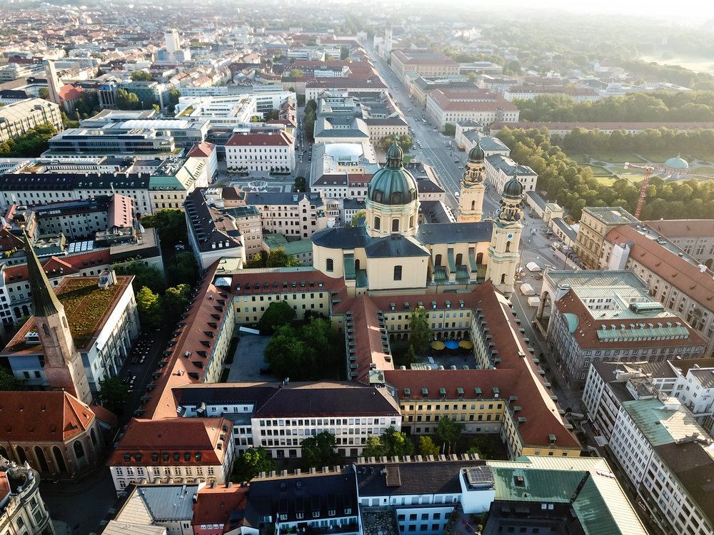 Kultusministerium, München, Drohnenaufnahme