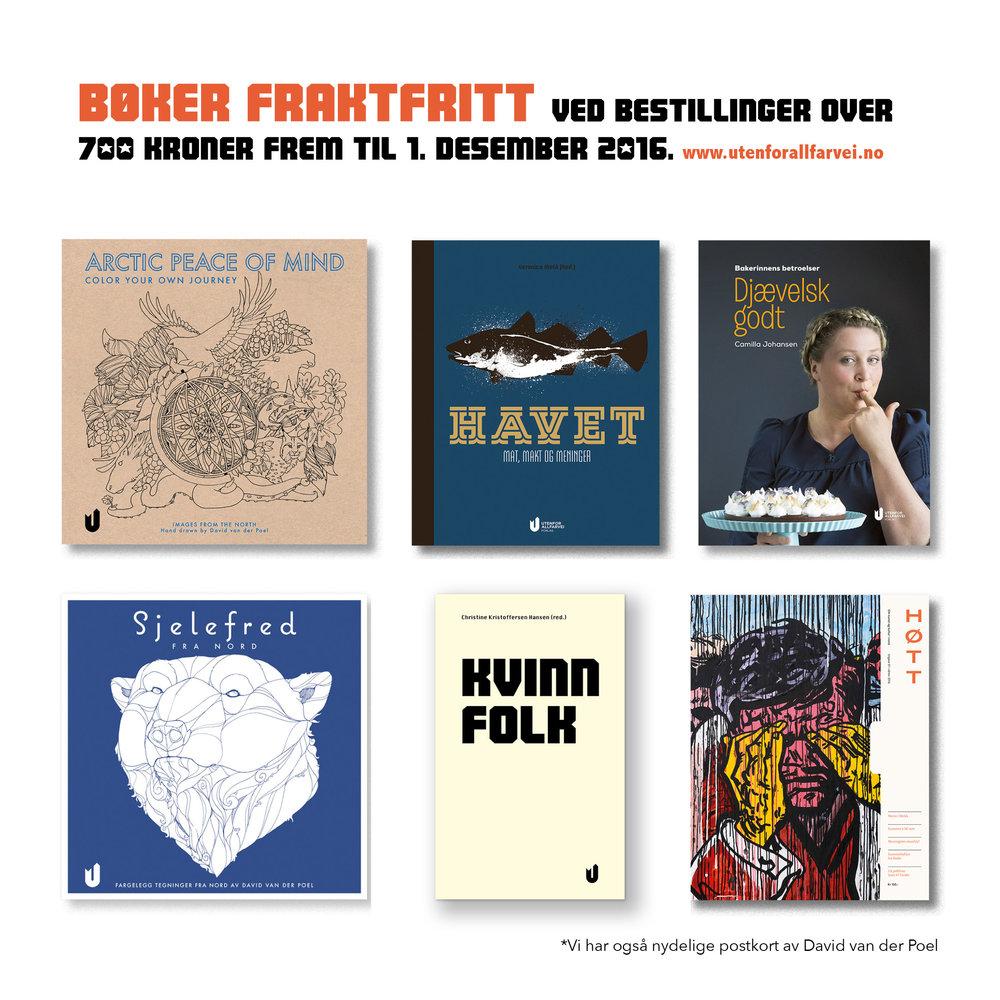 Finn fine bøker, bestill dem hjem. Og vips, no more worries før jul. www.utenforallfarvei.no