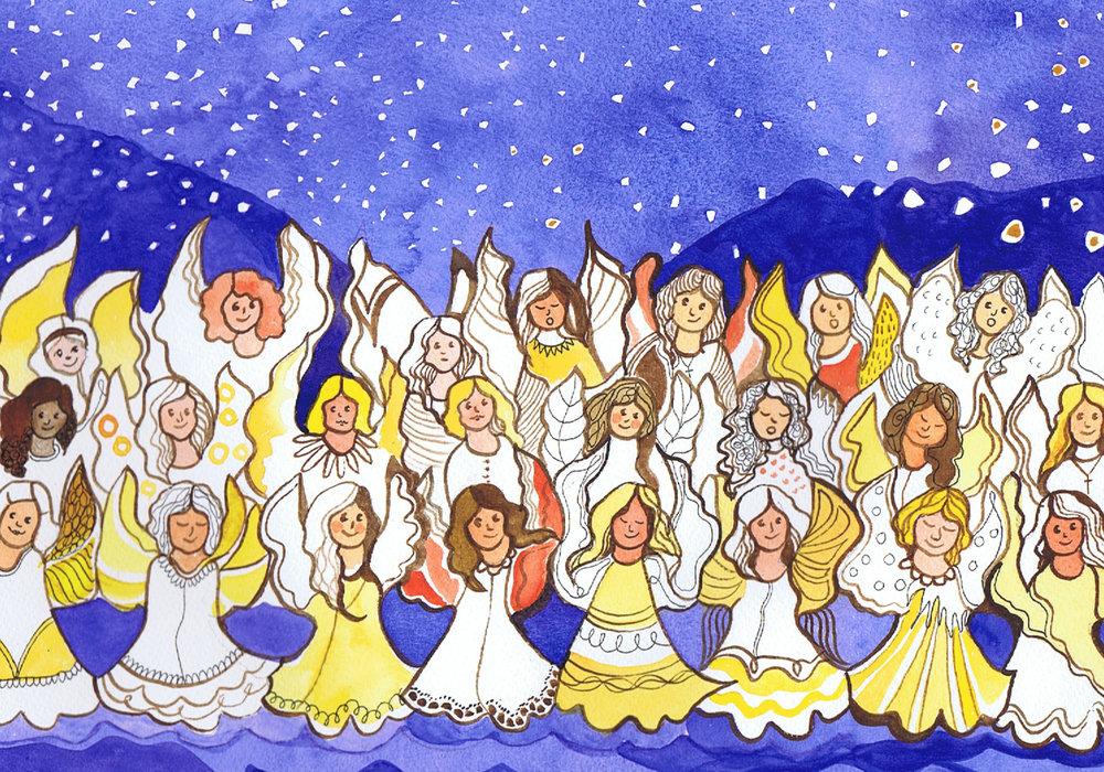 Illustrasjon fra Nordnorske barnesanger