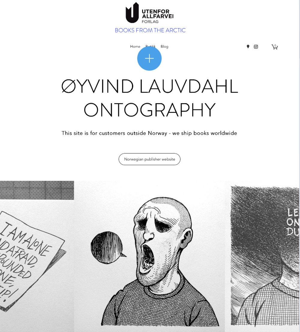 Øyvind Lauvdahl har et stort internasjonalt publikum - forlaget har derfor gjort det mulig for disse å bestille bøkene ved å lage en egen nettbutikk: www.offthebeatentrack.no