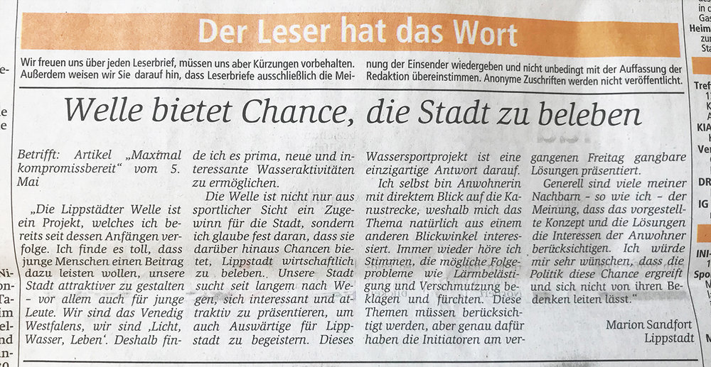 aus  Zeitungsverlag Der Patriot  / Ausgabe Dienstag, 8. Mai 2018