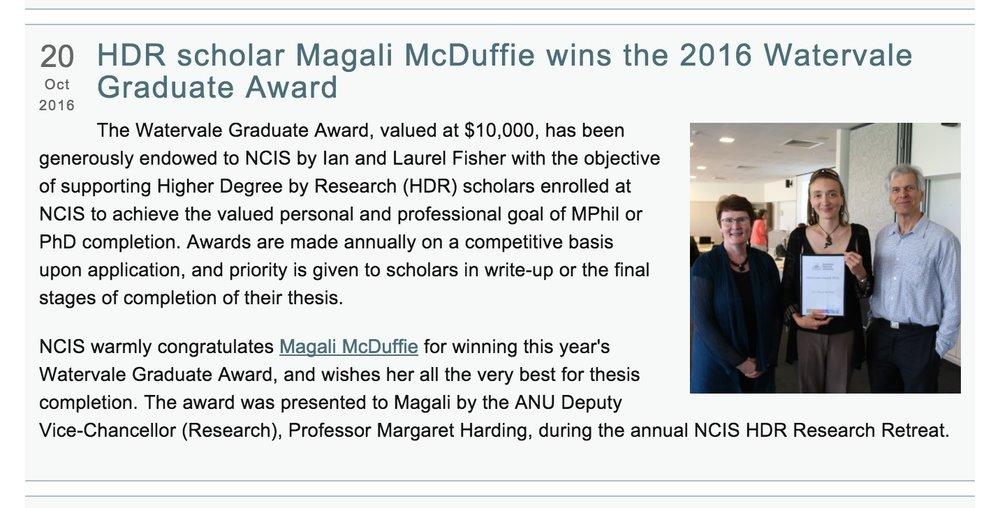NCIS Newsletter November 2016