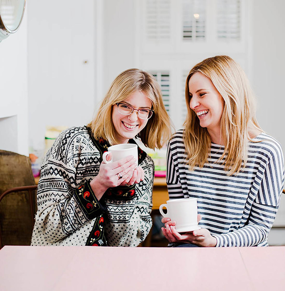 Welcome to the sage&hobbs collaboration. Our breakfast table. A project that is so important to me, as it is one that is not only celebrating the beginning of the &hobbs adventure, but the starting line for my sisters food venture Ivy&Sage.  This is us! My sister Kate (right) & myself (left).