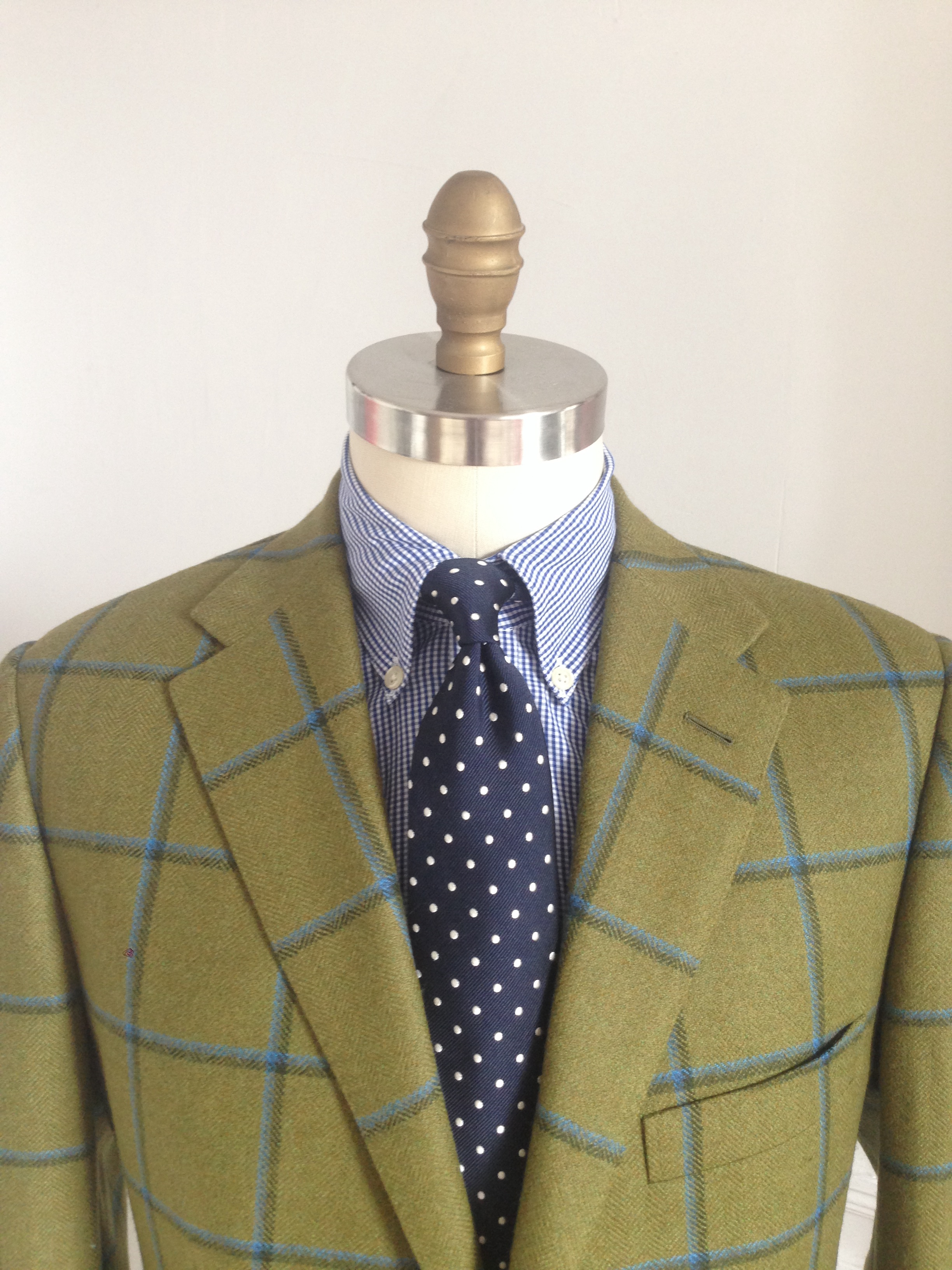 Green Plaid Tweed Porter and Harding by David Reeves