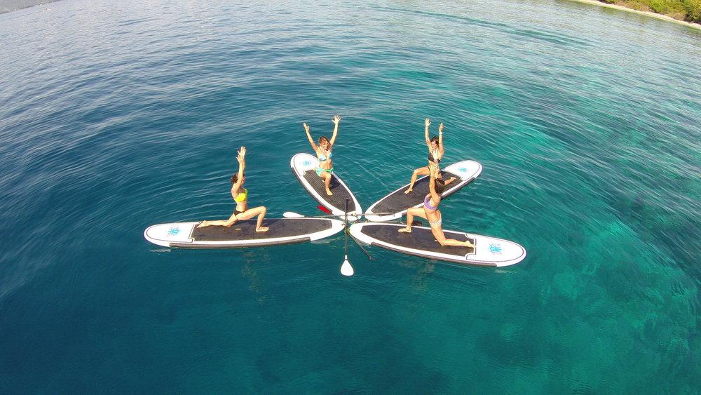 SUP Yoga @ mandalablue yoga - Blue Marine Dive