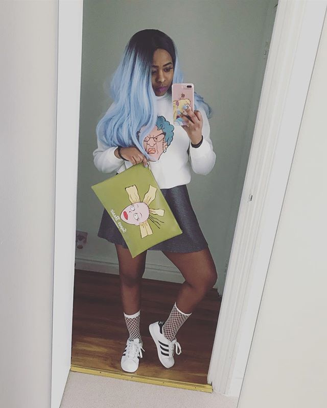 • Blue hair don't care  Www.chanakiradesign.com  #rugrats #recess #cynthia #accessories #phonecase #anime #retro #cartoon #tpucase #art #kpop #otaku #chanakirasan #laptopbag #kawaii #kawaiigirl #wig #wednesday #wiglife #london #laptoplifestyle #meme #style #fashion #sale #wcw #cosplay #bluehair #bag