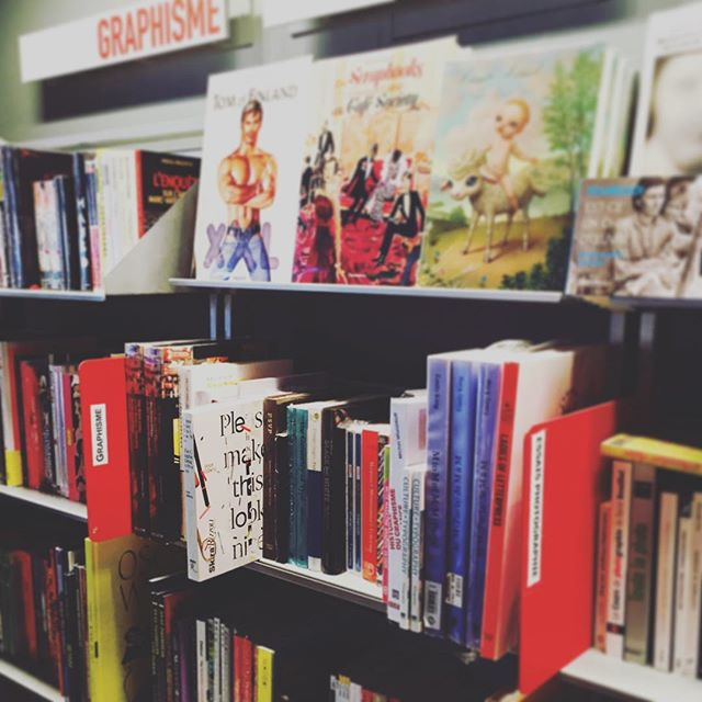 #PleaseMakeThisLookNice at @centrepompidou bookstore! #graphicdesign #designprocess #france #book #museumbookstore -- Thanks @emtotheb !