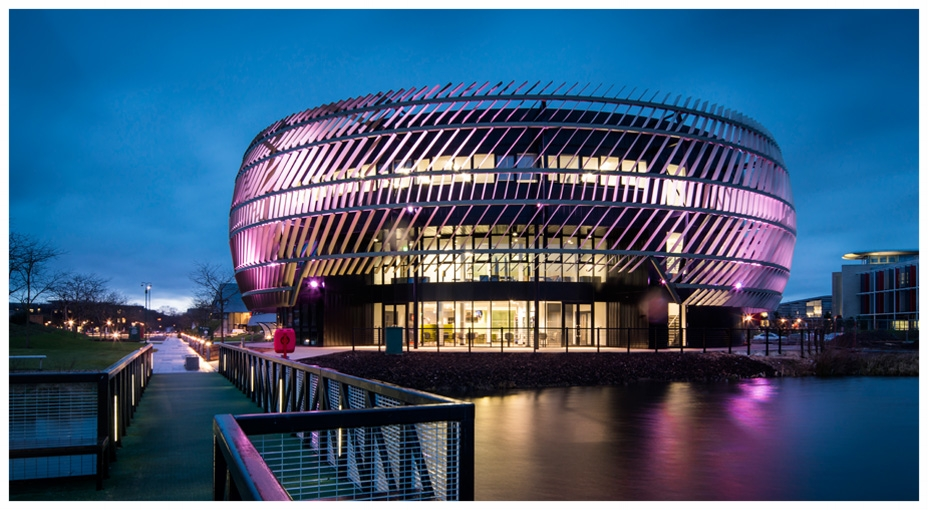 Ingenuity Centre Night time, purple lighting.jpg