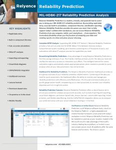 Relyence Reliability Prediction Brochure