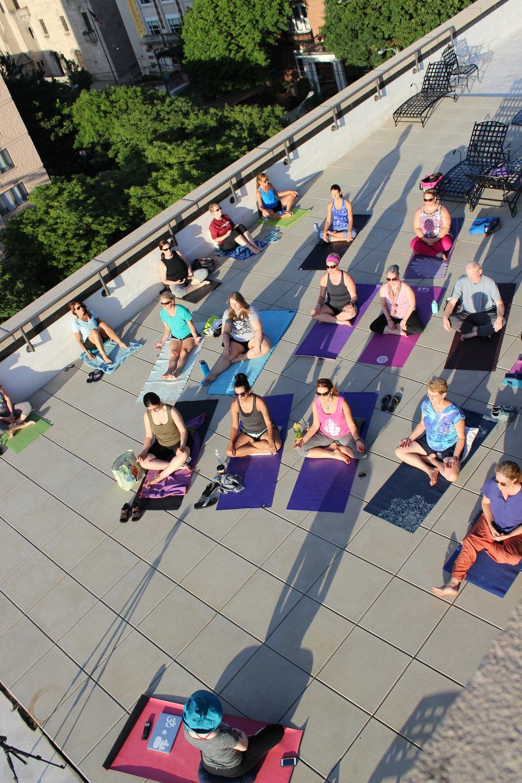 rooftop meditation