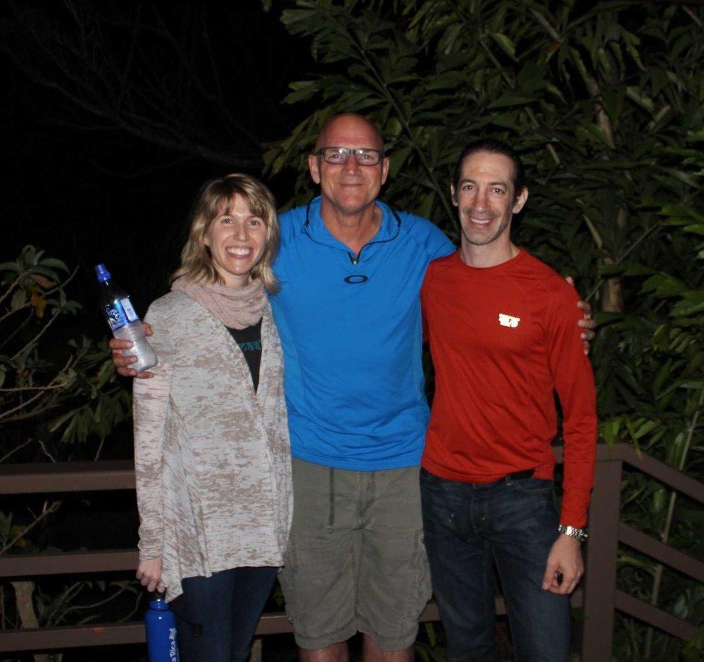Lara and Yanni with Jimmy in 2014 Barkan Method Hot Vinyasa Teacher Training.